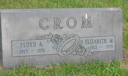CROM, ELIZABETH M. - Burt County, Nebraska | ELIZABETH M. CROM - Nebraska Gravestone Photos
