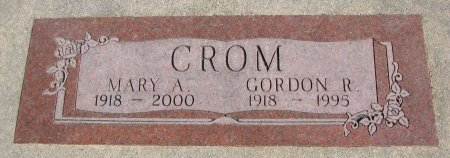 CROM, GORDON R. - Burt County, Nebraska | GORDON R. CROM - Nebraska Gravestone Photos