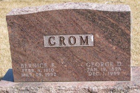 CROM, GEORGE D. - Burt County, Nebraska | GEORGE D. CROM - Nebraska Gravestone Photos
