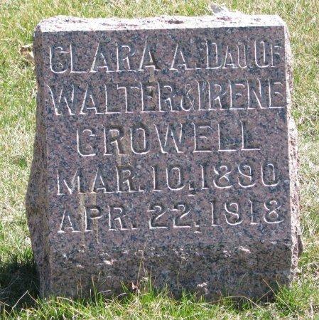CROWELL, CLARA A. - Burt County, Nebraska   CLARA A. CROWELL - Nebraska Gravestone Photos