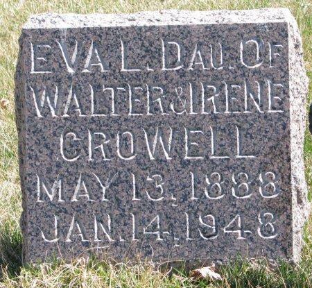 CROWELL, EVA L. - Burt County, Nebraska | EVA L. CROWELL - Nebraska Gravestone Photos