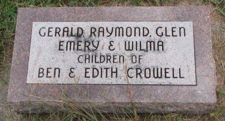 CROWELL, EMERY - Burt County, Nebraska | EMERY CROWELL - Nebraska Gravestone Photos