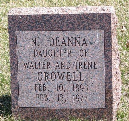 CROWELL, N. DEANNA - Burt County, Nebraska | N. DEANNA CROWELL - Nebraska Gravestone Photos