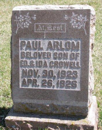CROWELL, PAUL ARLON - Burt County, Nebraska | PAUL ARLON CROWELL - Nebraska Gravestone Photos