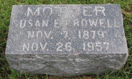 CROWELL, SUSAN E. - Burt County, Nebraska | SUSAN E. CROWELL - Nebraska Gravestone Photos