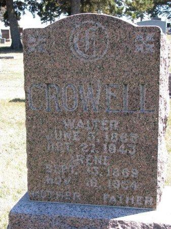 CROWELL, WALTER  - Burt County, Nebraska | WALTER  CROWELL - Nebraska Gravestone Photos