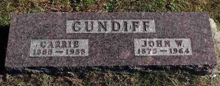 CUNDIFF, CARRIE - Burt County, Nebraska | CARRIE CUNDIFF - Nebraska Gravestone Photos