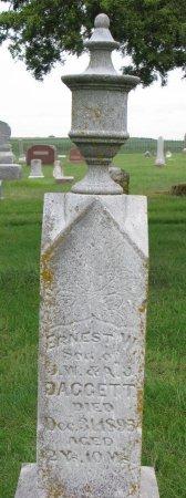 DAGGETT, ERNEST W. - Burt County, Nebraska   ERNEST W. DAGGETT - Nebraska Gravestone Photos