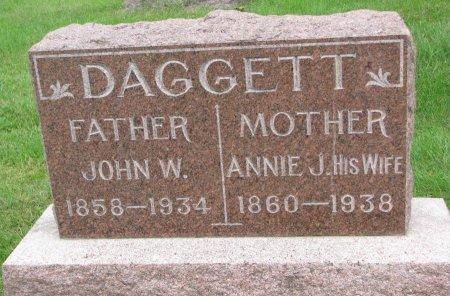DAGGETT, ANNIE J. - Burt County, Nebraska | ANNIE J. DAGGETT - Nebraska Gravestone Photos