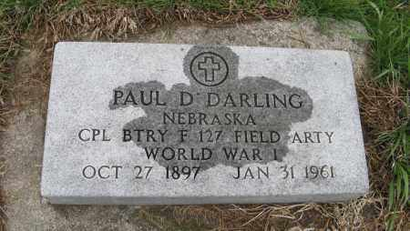 DARLING, PAUL D. - Burt County, Nebraska | PAUL D. DARLING - Nebraska Gravestone Photos