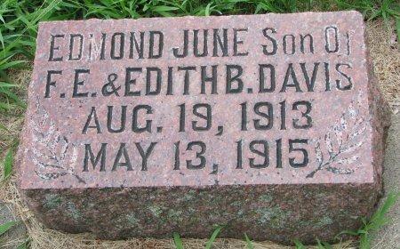 DAVIS, EDMOND JUNE - Burt County, Nebraska | EDMOND JUNE DAVIS - Nebraska Gravestone Photos