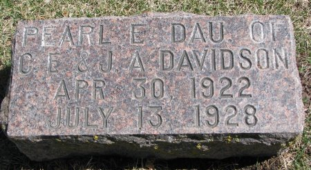 DAVIDSON, PEARL E. - Burt County, Nebraska | PEARL E. DAVIDSON - Nebraska Gravestone Photos