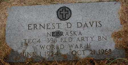 DAVIS, ERNEST D. (WW II) - Burt County, Nebraska | ERNEST D. (WW II) DAVIS - Nebraska Gravestone Photos