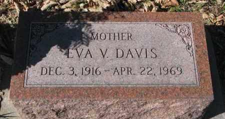 DAVIS, EVA V. - Burt County, Nebraska | EVA V. DAVIS - Nebraska Gravestone Photos