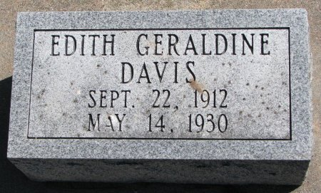 DAVIS, EDITH GERALDINE - Burt County, Nebraska | EDITH GERALDINE DAVIS - Nebraska Gravestone Photos