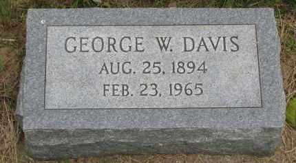 DAVIS, GEORGE W. - Burt County, Nebraska | GEORGE W. DAVIS - Nebraska Gravestone Photos