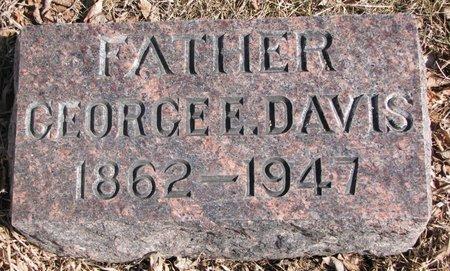 DAVIS, GEORGE E. - Burt County, Nebraska | GEORGE E. DAVIS - Nebraska Gravestone Photos