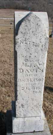 DAVIS, NETTIE P. - Burt County, Nebraska | NETTIE P. DAVIS - Nebraska Gravestone Photos