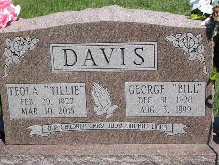 "DAVIS, TEOLA ""TILLIE"" - Burt County, Nebraska | TEOLA ""TILLIE"" DAVIS - Nebraska Gravestone Photos"