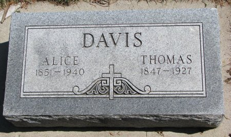 DAVIS, THOMAS - Burt County, Nebraska | THOMAS DAVIS - Nebraska Gravestone Photos