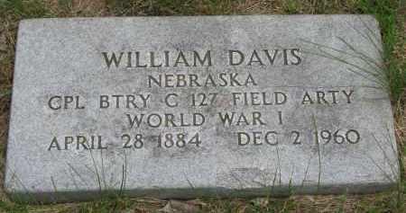 DAVIS, WILLIAM (MILITARY MARKER) - Burt County, Nebraska | WILLIAM (MILITARY MARKER) DAVIS - Nebraska Gravestone Photos