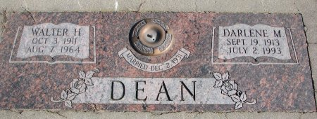 DEAN, WALTER H. - Burt County, Nebraska | WALTER H. DEAN - Nebraska Gravestone Photos