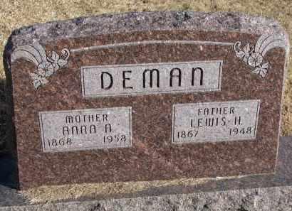 DEMAN, LEWIS H. - Burt County, Nebraska   LEWIS H. DEMAN - Nebraska Gravestone Photos