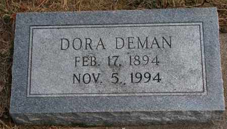 DEMAN, DORA - Burt County, Nebraska | DORA DEMAN - Nebraska Gravestone Photos