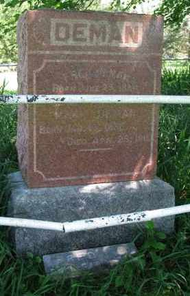DEMAN, MARY - Burt County, Nebraska | MARY DEMAN - Nebraska Gravestone Photos