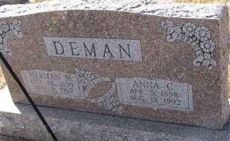 DEMAN, HERMAN H. - Burt County, Nebraska | HERMAN H. DEMAN - Nebraska Gravestone Photos