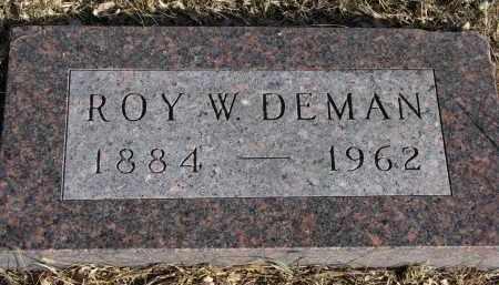 DEMAN, ROY W. - Burt County, Nebraska | ROY W. DEMAN - Nebraska Gravestone Photos