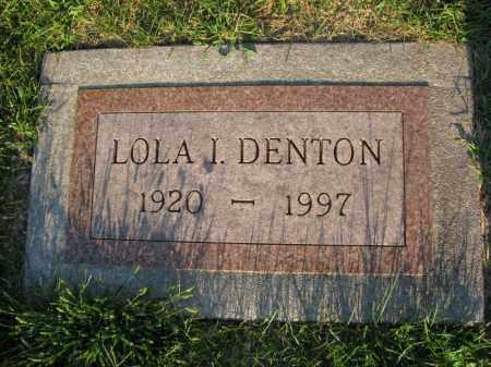DENTON, LOLA I. - Burt County, Nebraska | LOLA I. DENTON - Nebraska Gravestone Photos