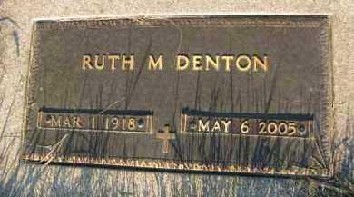 DENTON, RUTH M. - Burt County, Nebraska   RUTH M. DENTON - Nebraska Gravestone Photos