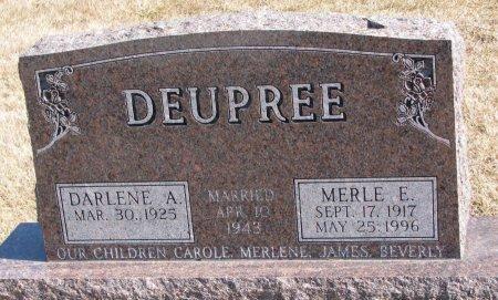 DEUPREE, DARLENE A. - Burt County, Nebraska | DARLENE A. DEUPREE - Nebraska Gravestone Photos