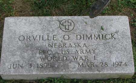 DIMMICK, ORVILLE O. - Burt County, Nebraska | ORVILLE O. DIMMICK - Nebraska Gravestone Photos