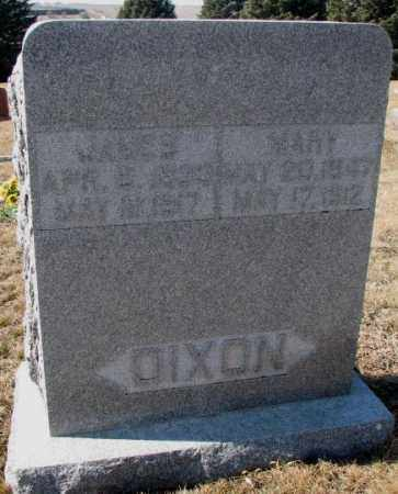 DIXON, JAMES - Burt County, Nebraska | JAMES DIXON - Nebraska Gravestone Photos