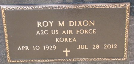 DIXON, ROY M. (MILITARY) - Burt County, Nebraska | ROY M. (MILITARY) DIXON - Nebraska Gravestone Photos