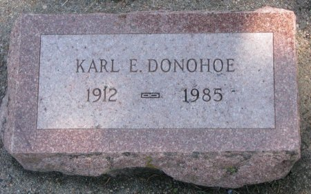 DONOHOE, KARL ELDRED - Burt County, Nebraska   KARL ELDRED DONOHOE - Nebraska Gravestone Photos