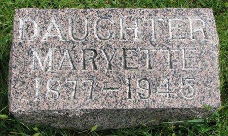 DOOLITTLE, MARYETTE - Burt County, Nebraska | MARYETTE DOOLITTLE - Nebraska Gravestone Photos