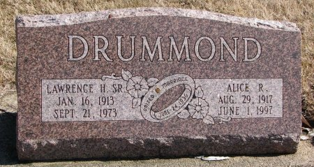JOHNSON DRUMMOND, ALICE ROSINA - Burt County, Nebraska | ALICE ROSINA JOHNSON DRUMMOND - Nebraska Gravestone Photos