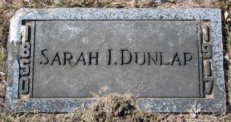 DUNLAP, SARAH I. - Burt County, Nebraska | SARAH I. DUNLAP - Nebraska Gravestone Photos