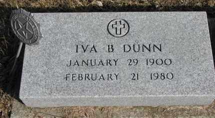 DUNN, IVA B. - Burt County, Nebraska | IVA B. DUNN - Nebraska Gravestone Photos