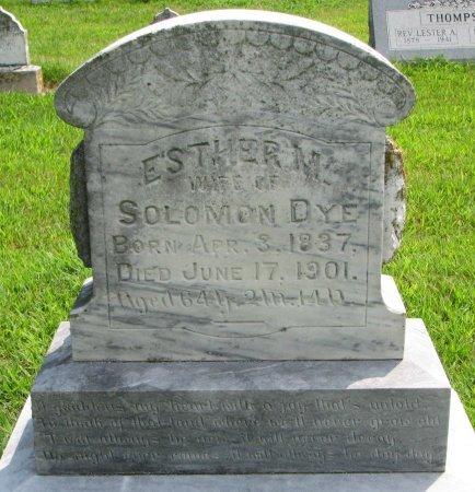 DYE, ESTHER M. - Burt County, Nebraska | ESTHER M. DYE - Nebraska Gravestone Photos