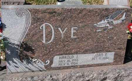 DYE, HAROLD J. - Burt County, Nebraska | HAROLD J. DYE - Nebraska Gravestone Photos