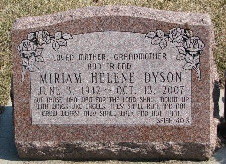 DYSON, MIRIAM HELENE - Burt County, Nebraska | MIRIAM HELENE DYSON - Nebraska Gravestone Photos