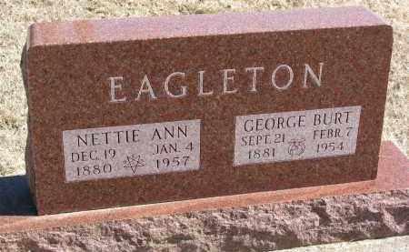 EAGLETON, GEORGE BURT - Burt County, Nebraska | GEORGE BURT EAGLETON - Nebraska Gravestone Photos