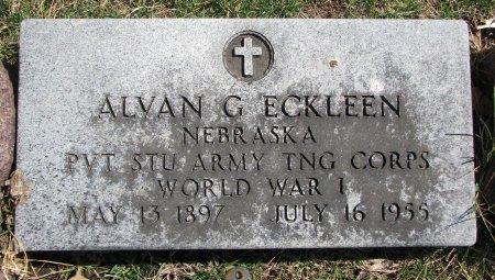 ECKLEEN, ALVAN G. - Burt County, Nebraska   ALVAN G. ECKLEEN - Nebraska Gravestone Photos