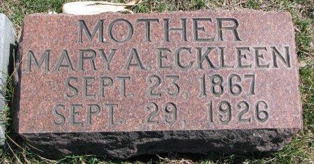 ECKLEEN, MARY A. - Burt County, Nebraska | MARY A. ECKLEEN - Nebraska Gravestone Photos