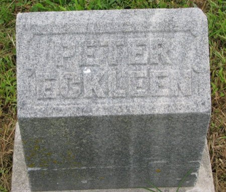 ECKLEEN, PETER (FOOT STONE) - Burt County, Nebraska   PETER (FOOT STONE) ECKLEEN - Nebraska Gravestone Photos