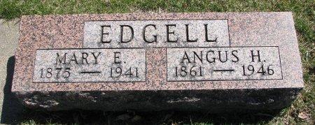 EDGELL, ANGUS H. - Burt County, Nebraska | ANGUS H. EDGELL - Nebraska Gravestone Photos